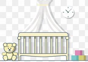 Bedroom Flat Design Material - Bedroom Infant Bed Mosquito Net PNG