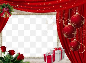 Red Christmas Decoration Box - Picture Frames Christmas Molding PNG