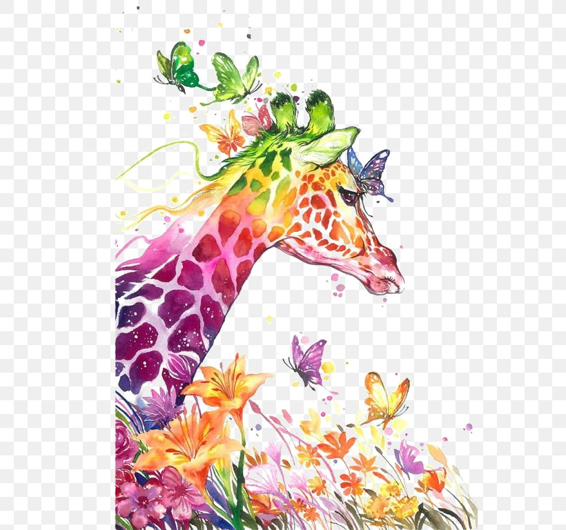 Watercolor Painting Giraffe, PNG, 564x768px, Watercolor Painting, Abstract Art, Art, Art Museum, Artist Download Free