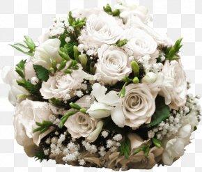 Just Married Car - Garden Roses Floral Design Cut Flowers Flower Bouquet PNG