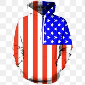 American Flag - Hoodie Sweater Outerwear Shirt PNG
