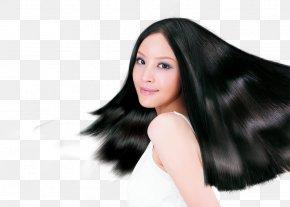 Model Black Hair - Hair Dryer Shampoo Long Hair Hair Care PNG