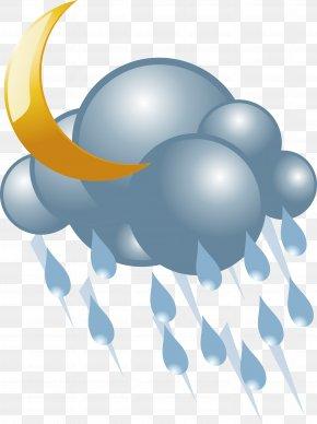 Rain Vector Icon - Lightning Cloud Rain PNG