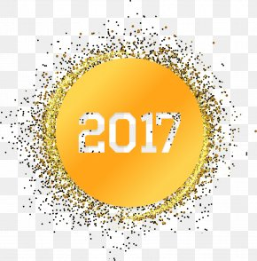 Golden Light Effect New Year's Day 2017 HD Clips - Light Gold Yellow PNG
