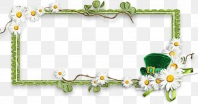 Plant Picture Frame - Watercolor Flowers Frame PNG