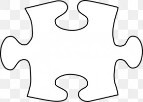 Large Puzzle Piece Template - Jigsaw Puzzle Tangram Template Clip Art PNG