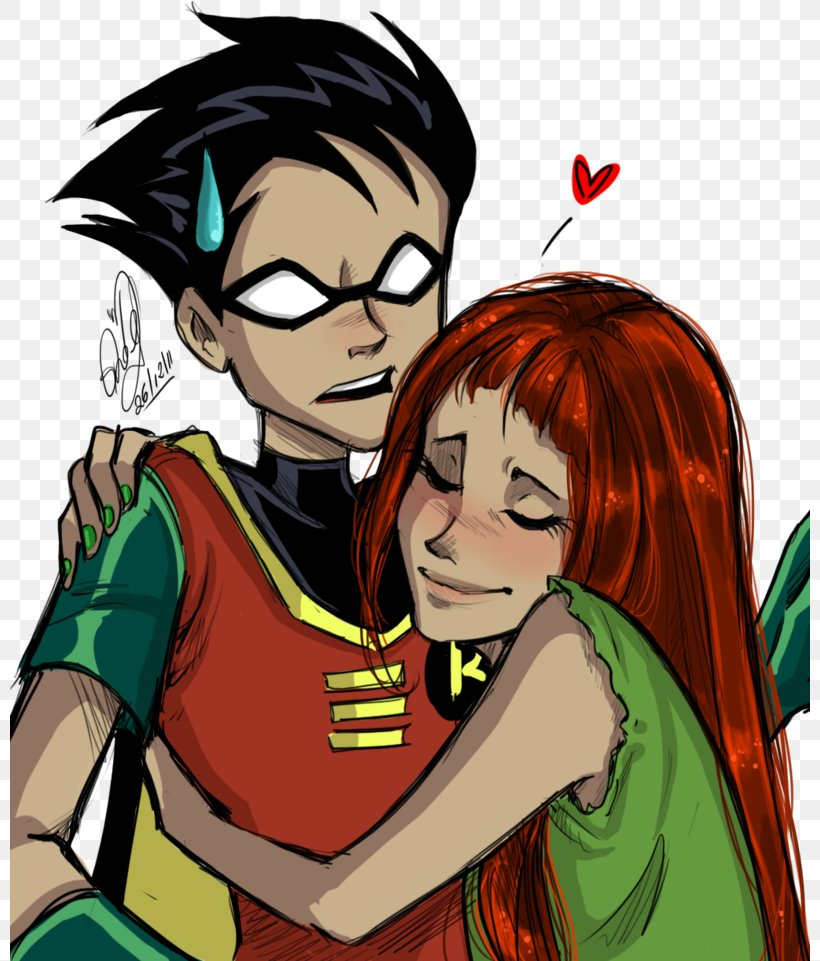 Beast Boy Starfire Raven Teen Titans Tim Drake Png 800x961px