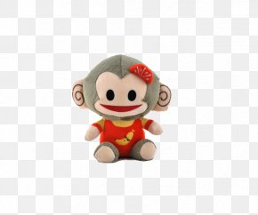 Little Monkey - Monkey Macaque Stuffed Toy PNG