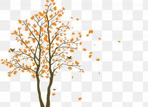 Yellow Brown Autumn Leaves Simple Decoration - Wall Decal Floor Waterproofing Polyvinyl Chloride Mat PNG