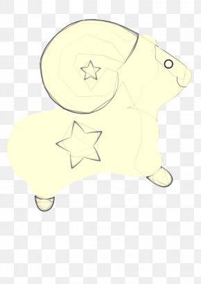 Drawing Line Art - Yellow Cartoon Clip Art Line Art Sketch PNG