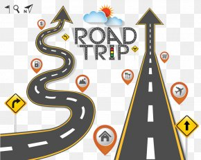 Winding Road - Road Trip Travel Clip Art PNG