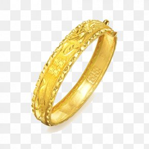 Chow Sang Sang Gold Bracelet Gold Wave Bracelet Female Models Edge Marriage Dowry 09513K Two - Bangle Bracelet Ring Gold Jewellery PNG