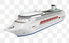 Red Giant Ship - Cruise Ship Ship Model 3D Computer Graphics 3D Modeling PNG
