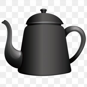 Cartoon Kettle Black - Kettle Royalty-free Teapot Illustration PNG