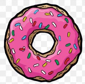 Donuts Homer Simpson Drawing Cartoon PNG