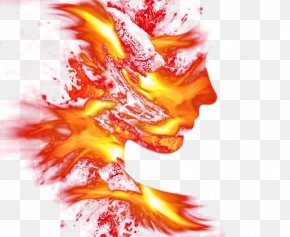 Abstract Face Flame - Flame Face PNG