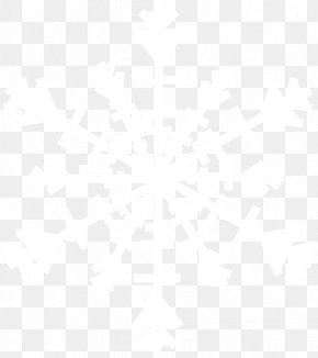 White Snowflake Image - Symmetry Line Point Black And White Pattern PNG