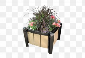 Flower Receptacle - Table Flowerpot Plastic Recycling Wishbone Site Furnishings PNG