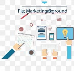 Flat Design Marketing - Marketing Plan PNG