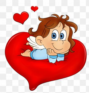 Valentine Cute Angel PNG Clipart Picture - Valentine's Day Heart Clip Art PNG