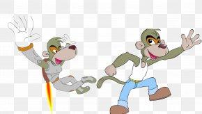 Monkey Vector Cartoon Style - Monkey Cartoon PNG