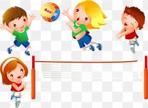 Sports Kids - Sports Sportart Ball Game Volleyball Child PNG