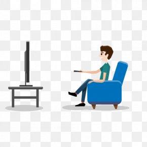 Vector Man Watching TV - Zhejiang Television Home Automation PNG