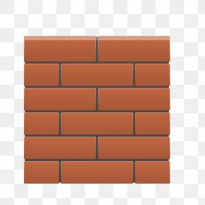 Cartoon Red Brick Wall - Brick Wall Square Angle Material PNG
