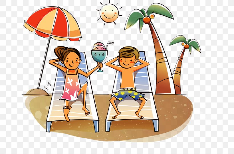 Clip Art Openclipart Image Drawing Illustration, PNG, 670x541px, Drawing, Area, Beach, Clip Art For Summer, Couple Download Free