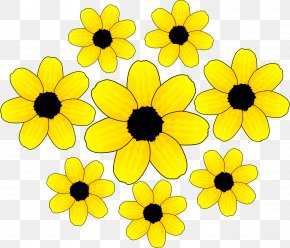 Yellow Cliparts - Yellow Flower Clip Art PNG
