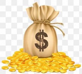 Money Bag - Clip Art Money Bag Gold Vector Graphics Image PNG