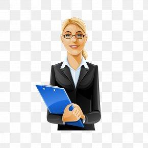 Professional Women - Cartoon Female Illustration PNG