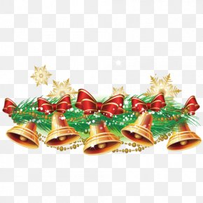 Christmas Bells Background Decoration - Christmas Jingle Bell Clip Art PNG