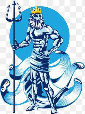 Vector Western Dragon - Poseidon Greek Mythology Clip Art PNG