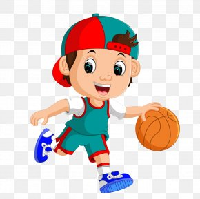 Playing Basketball Little Boy - Basketball Player Royalty-free Clip Art PNG