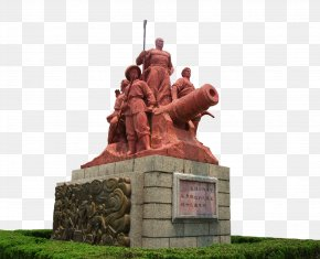 Opium War Hero Statues Cannon - China First Opium War First Sino-Japanese War Second Sino-Japanese War Second Opium War PNG