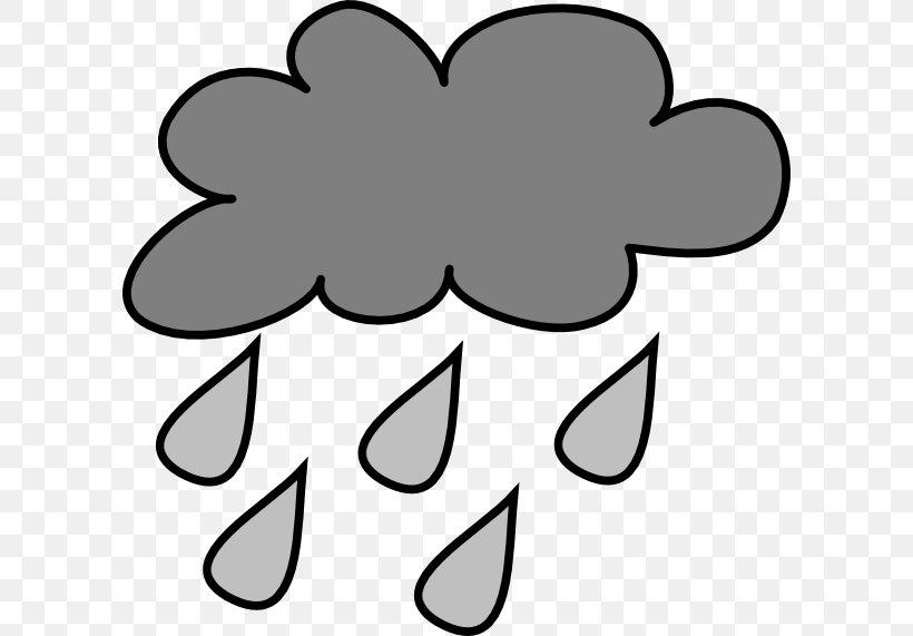 Rain Cloud Storm Cartoon Clip Art, PNG, 600x571px, Rain, Black, Black And White, Cartoon, Cloud Download Free