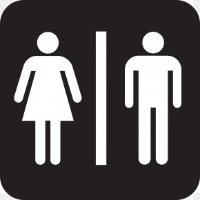 Pictures Of Man And Woman - Unisex Public Toilet Bathroom Clip Art PNG