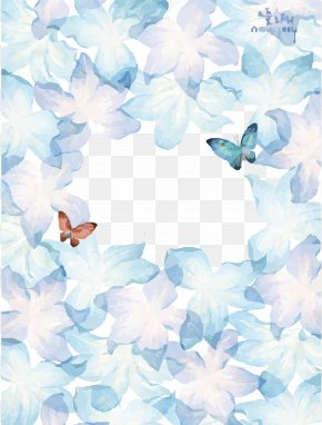 Ink Butterfly Dream Background - Watercolor Painting Drawing Royalty-free PNG