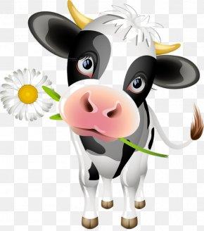 Cow Cartoon Dairy Cattle - Holstein Friesian Cattle Highland Cattle Calf Angus Cattle Beef Cattle PNG