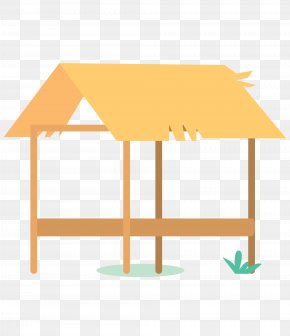 Vector Cartoon Straw House - Paper Straw PNG
