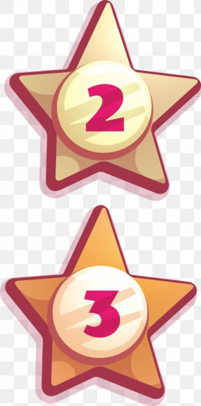 Hand-painted Stars - Euclidean Vector Five-pointed Star Icon PNG