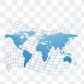 Dimensional Dynamic Distorted World Map Vector Material - Globe World Map PNG