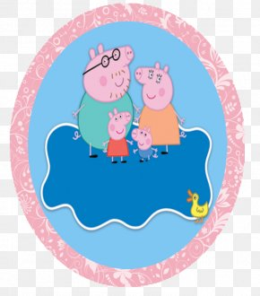 PEPPA PIG - Birthday Party Paper Convite Easter Egg PNG