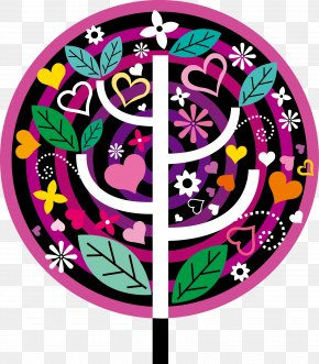 Vector Flower Tree - Euclidean Vector Tree Clip Art PNG