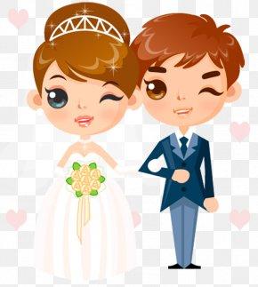 Wedding People - Wedding Invitation Cartoon Clip Art PNG