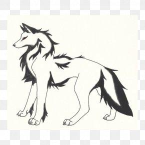 Gray Wolf Cartoon - Gray Wolf Line Art Drawing Digital Art Sketch PNG