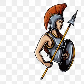 Spear And Shield Guards - Ares Greek Mythology The Gods And Goddesses Of Olympus Twelve Olympians PNG