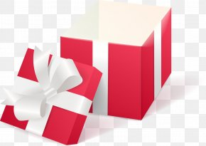 Vector Painted Open Gift Box - Gift Decorative Box PNG