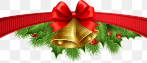 Ribbon Border - Santa Claus Christmas Card Greeting & Note Cards Wish PNG